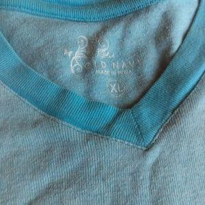 Girl Blue Old Navy V Neck shirt